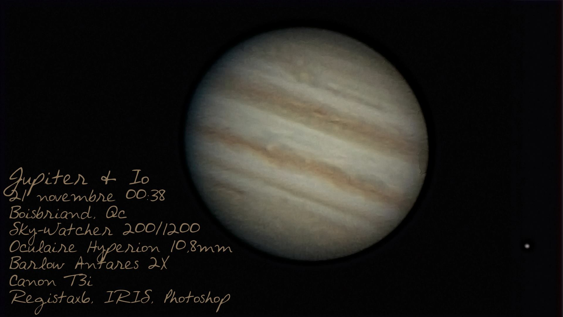 Jupiter Io - Dérick Hébert